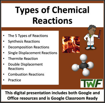 Types of Chemical Reactions Lesson - Chemistry PowerPoint Lesson & Student Notes