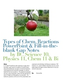 Types of Chemical Reactions PowerPoint & Fill-in-the-blank Gap Notes