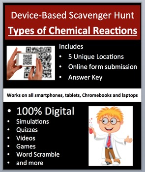 Types of Chemical Reactions and Balancing Device-Based Scavenger Hunt Activity