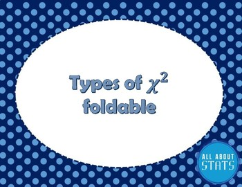 Types of Chi Squared foldable