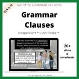 Grammar Clauses Independent, Subordinate, Relative Pronoun