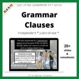 Grammar Clauses Independent, Subordinate, Relative Pronoun
