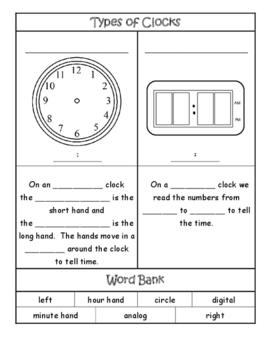 Types Of Clocks By Ell World Teachers Pay Teachers