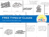 Types of Clouds 3 Part Cards and Fact Cards
