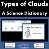 Types of Clouds Color, Cut and Glue Science Dictionary