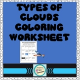 Types of Clouds Coloring Worksheet