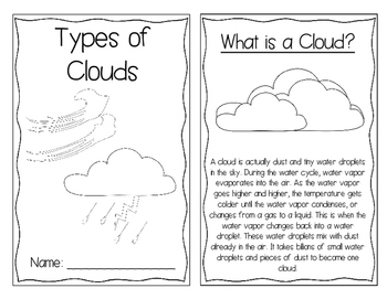 Types of Clouds Interactive Book