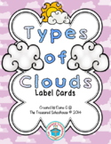 Types of Clouds Label Cards