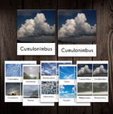 Types of Clouds - Montessori 3 part cards