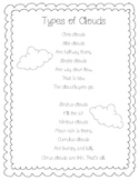 Types of Clouds Poem