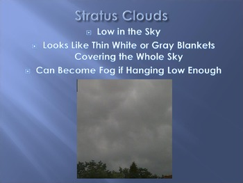 Types of Clouds Powerpoint