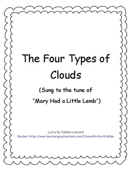 Types of Clouds Song
