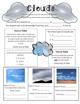 Types of Clouds: Student Research