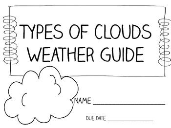 Types of Clouds Weather Log Packet ~ Great for Weather Unit!