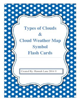 Types of Clouds & Weather Symbol Flash Cards