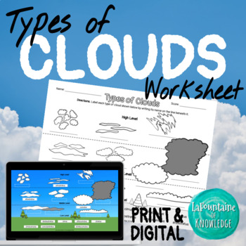 graphic about Types of Clouds Worksheet Printable named Styles Of Clouds Worksheets Academics Pay out Academics