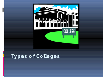 Types of College PowerPoint Presentation