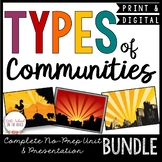 Types of Communities BUNDLE   Distance Learning Google
