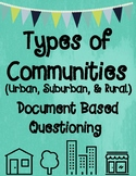 Types of Communities DBQ (Document Based Questioning)