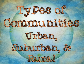 Types of Communities Flip Book