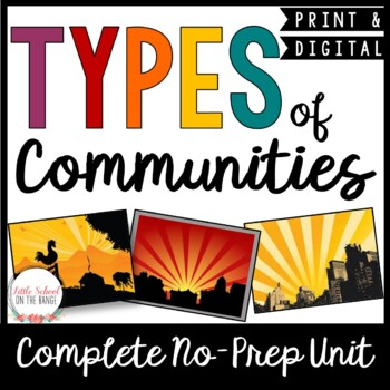Types of Communities No-Prep Unit
