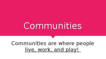 Types of Communities Power Point