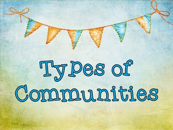 Types of Communities PowerPoint Presentation with Handout