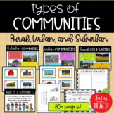 Types of Communities │Rural, Urban, & Suburban