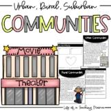 Types of Communities: Urban, Rural, Suburban