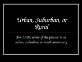 Types of Communities: Urban, Suburban, and Rural quiz