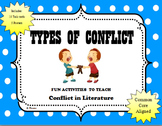 Types of Conflict Bundled Set Posters & iPhone Task Cards