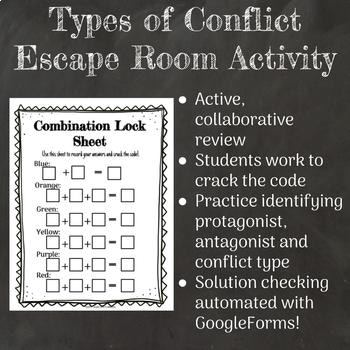 """Types of Conflict """"Escape Room"""" Stations Activity"""