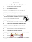 Types of Conflict Example Worksheet