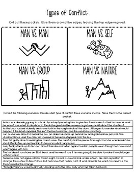 Types of Conflict Interactive Notebook Activity