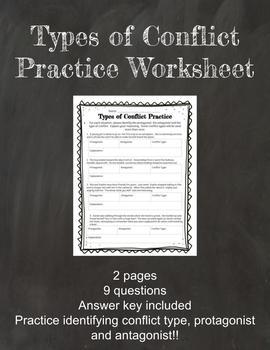 Types of Conflict Practice Worksheet