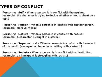 Types of Conflict - Reader's Notebook