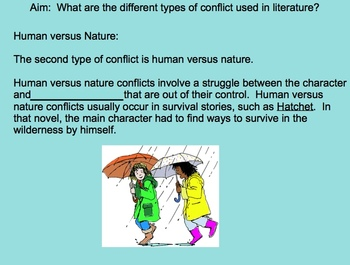 Types of Conflict Smart Board Presentation