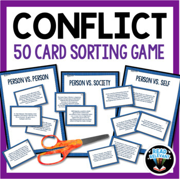 Types Of Conflict Worksheets Teaching Resources Teachers Pay Teachers