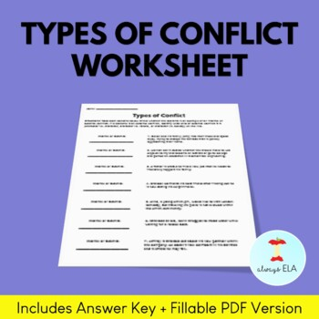 Types Of Conflict Worksheets Teachers Pay Teachers This worksheet will help students master conflict types in literature. types of conflict worksheets teachers