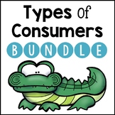 Types of Consumers BUNDLE: Carnivores, Herbivores, and Omnivores