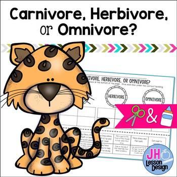 Carnivore Herbivore Omnivore Worksheet Teaching Resources