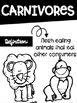 Types of Consumers- Carnivore, Herbivore, Omnivore Posters