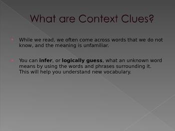 Context Clues Power Point Presentation