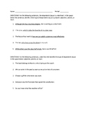 Types of Dependent Clauses Worksheet