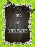 Types of Disfluencies Posters