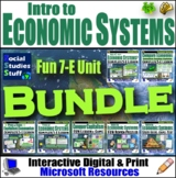 Types of Economic Systems Complete 5-E Unit Bundle - Lots of FUN Resources