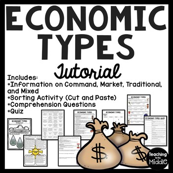 Economy Types Tutorial, Command, Market, Mixed, Traditional, Worksheets, Chart