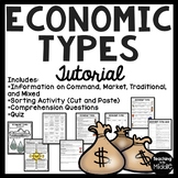 Economy Types Tutorial Command, Market, Mixed, Traditional, Worksheets, Chart