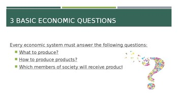 Types of Economic Systems PPT for Social Studies  24 slides