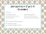 Types of Economy Notes